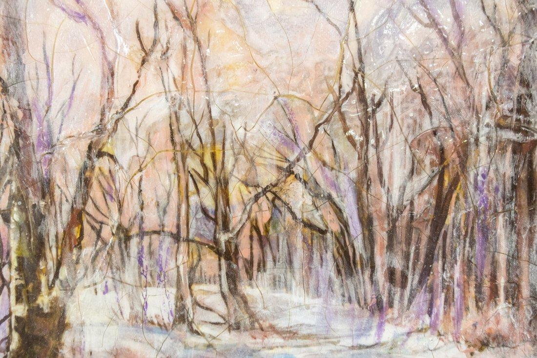 RUTH MCKEE 1929-2012, Pa Artist OIL/b WINTER LANDSCAPE - 3