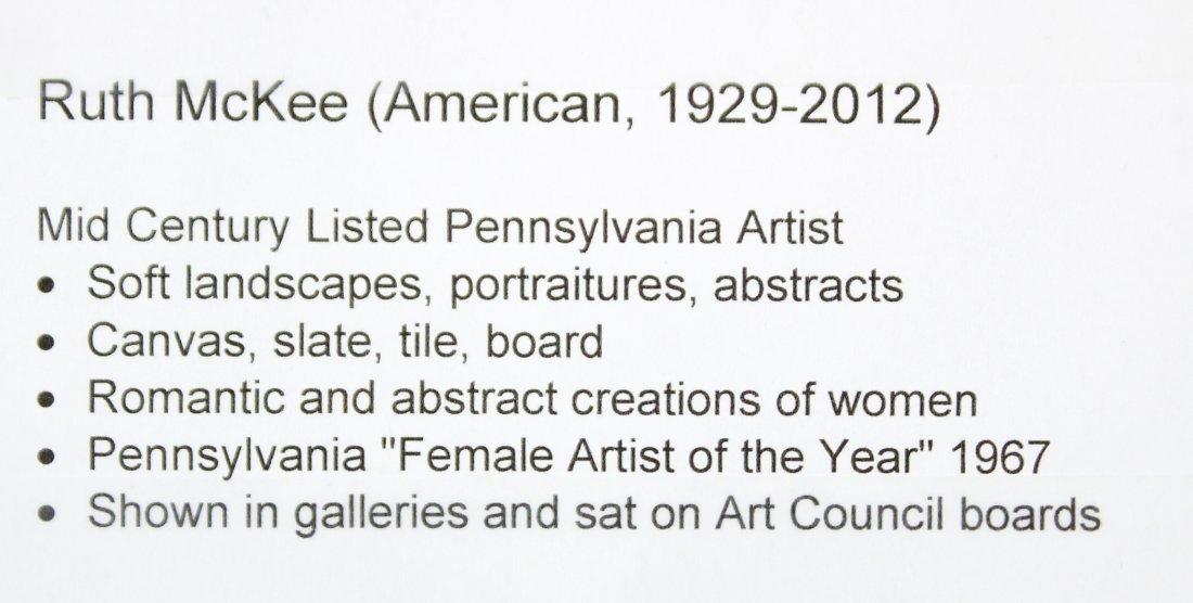 RUTH MCKEE 1929-2012, Pa Artist OIL/b WINTER LANDSCAPE - 4