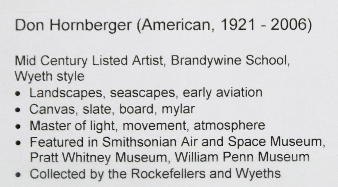 Don Hornberger 1921-2006 Oil/B Approaching Storm Barn - 4