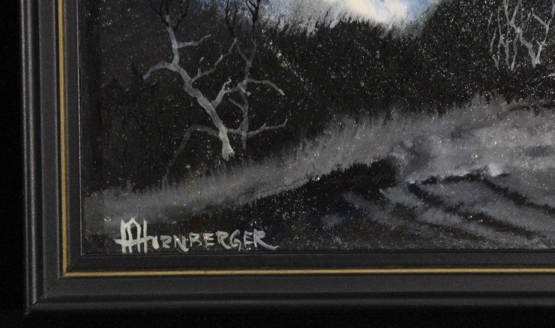 Don Hornberger 1921-2006 Oil Painting Storm Over Barn - 3