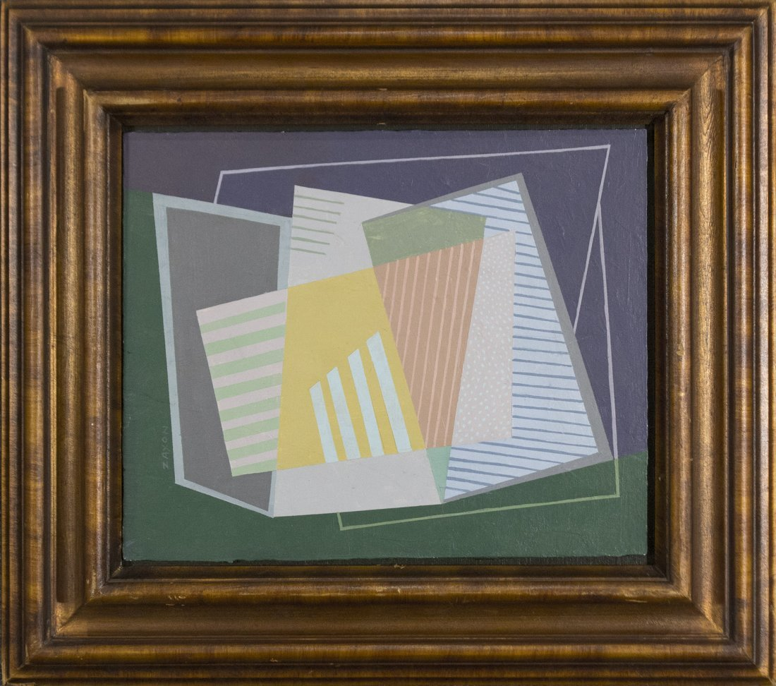 SEYMOUR ZAYON Mid Century Modern GEOMETRIC ABSTRACT