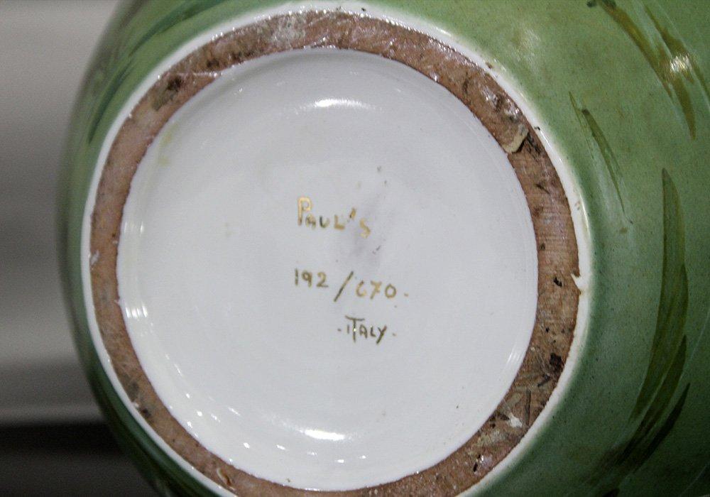 Italian Ceramic Vase With Enamel Fish Decoration - 3