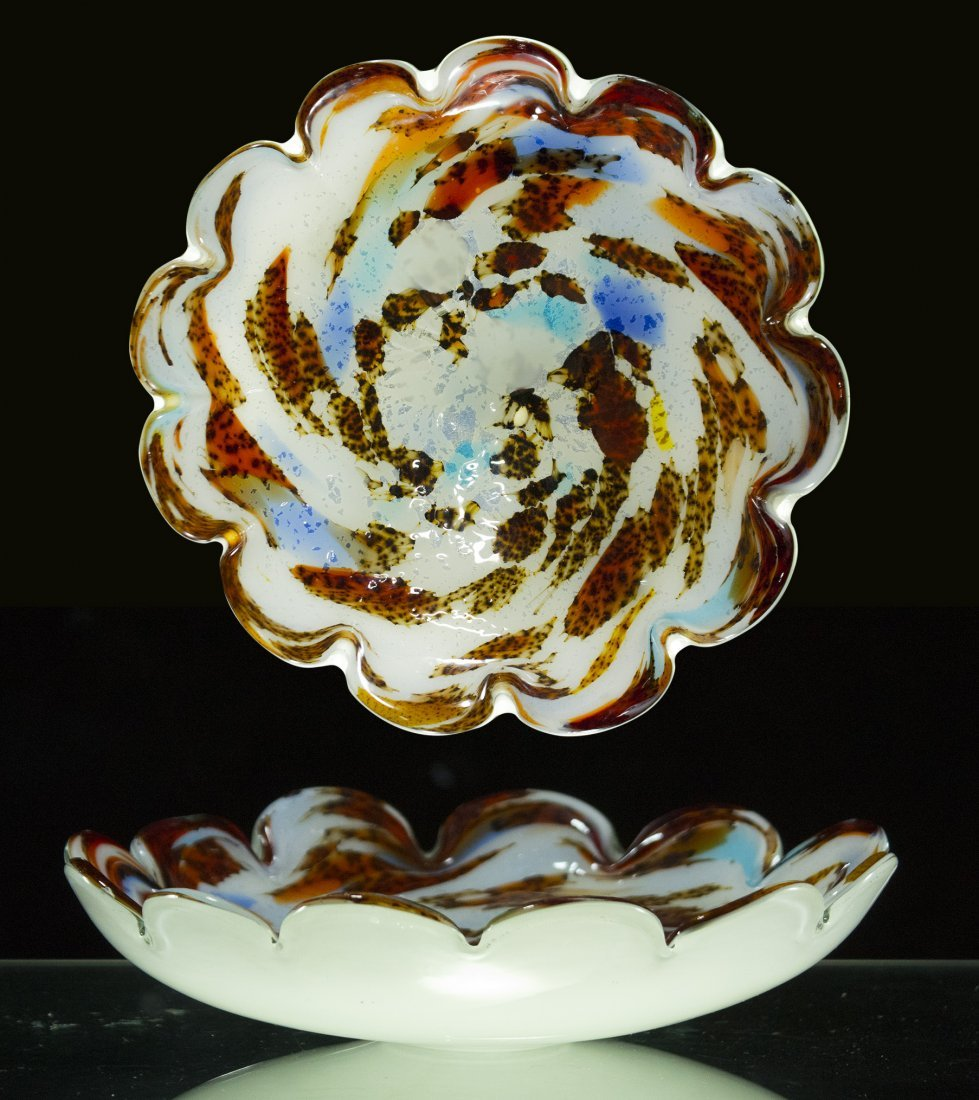 Mid Century Modern MURANO ART GLASS CENTER BOWL