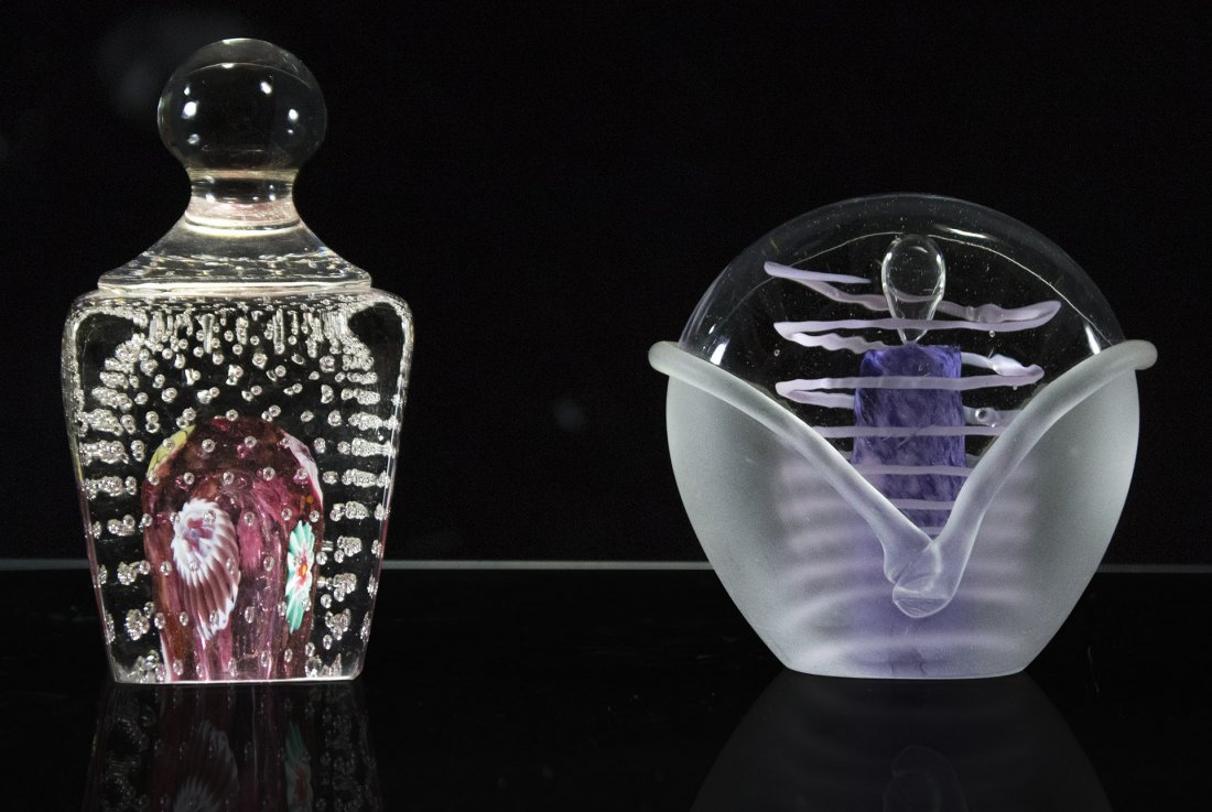 Two [2] Exquisite Art Glass Paperweights
