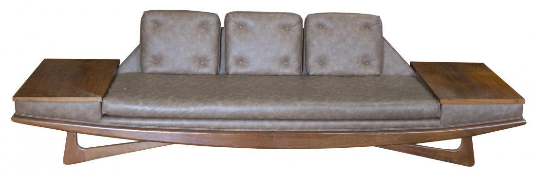 ADRIAN PEARSALL GONDOLA LONG SOFA WITH TABLE SIDES