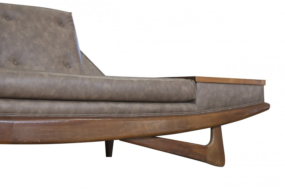 ADRIAN PEARSALL GONDOLA LONG SOFA WITH TABLE SIDES - 3