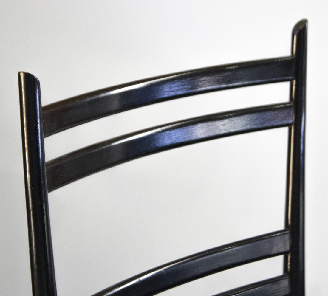 GIO PONTI Set Four [4] MID CENTURY LADDER BACK CHAIRS - 3