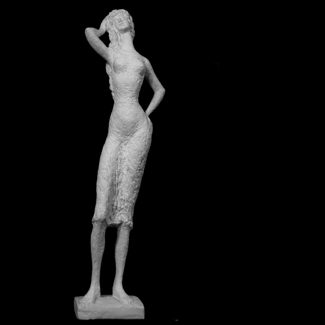 Mid Century Chalk Sculpture Woman Austin Productions