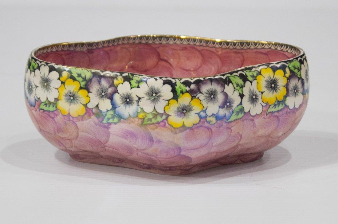 MALING ENGLAND Porcelain Bowl Floral Border NEWCASTLE