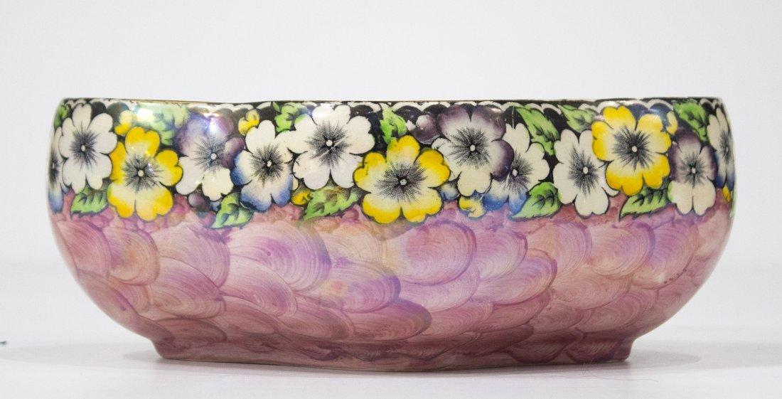MALING ENGLAND Porcelain Bowl Floral Border NEWCASTLE - 2