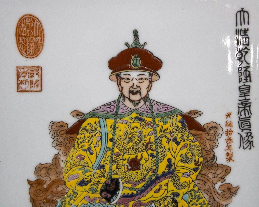 Oriental Buddha Hand Painted Porcelain Tile - 2
