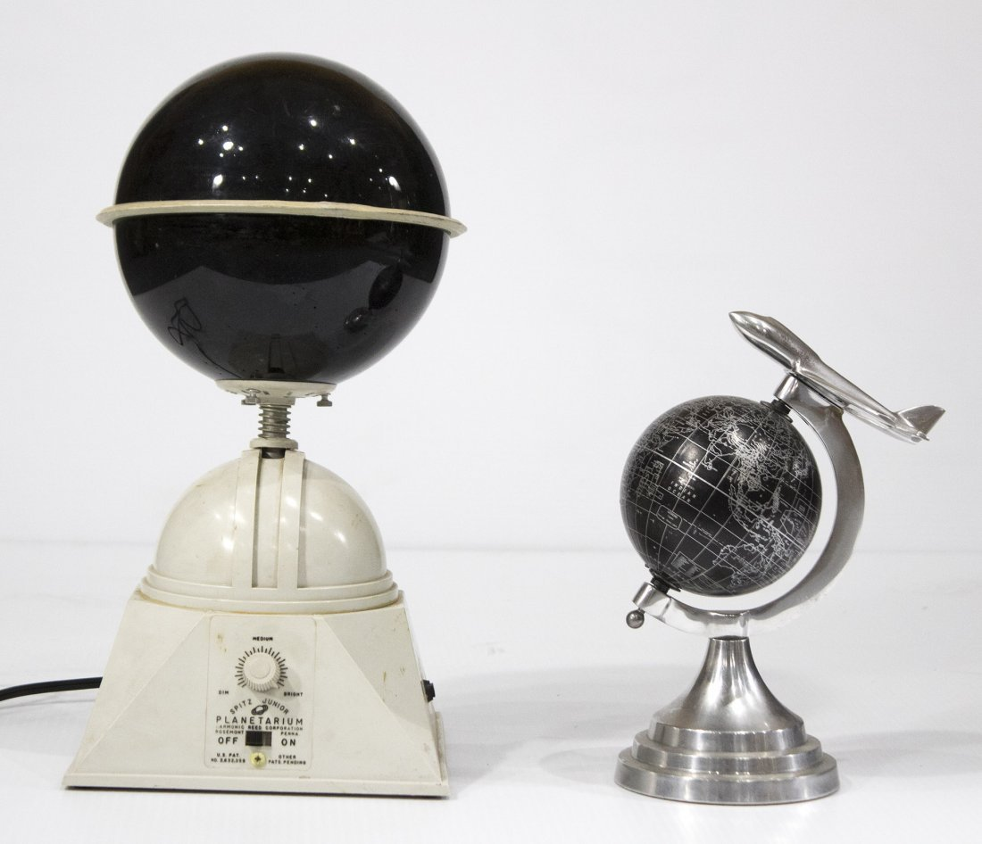 Two [2] Mid Century PLANETARIUM Models ONE LIGHTS UP