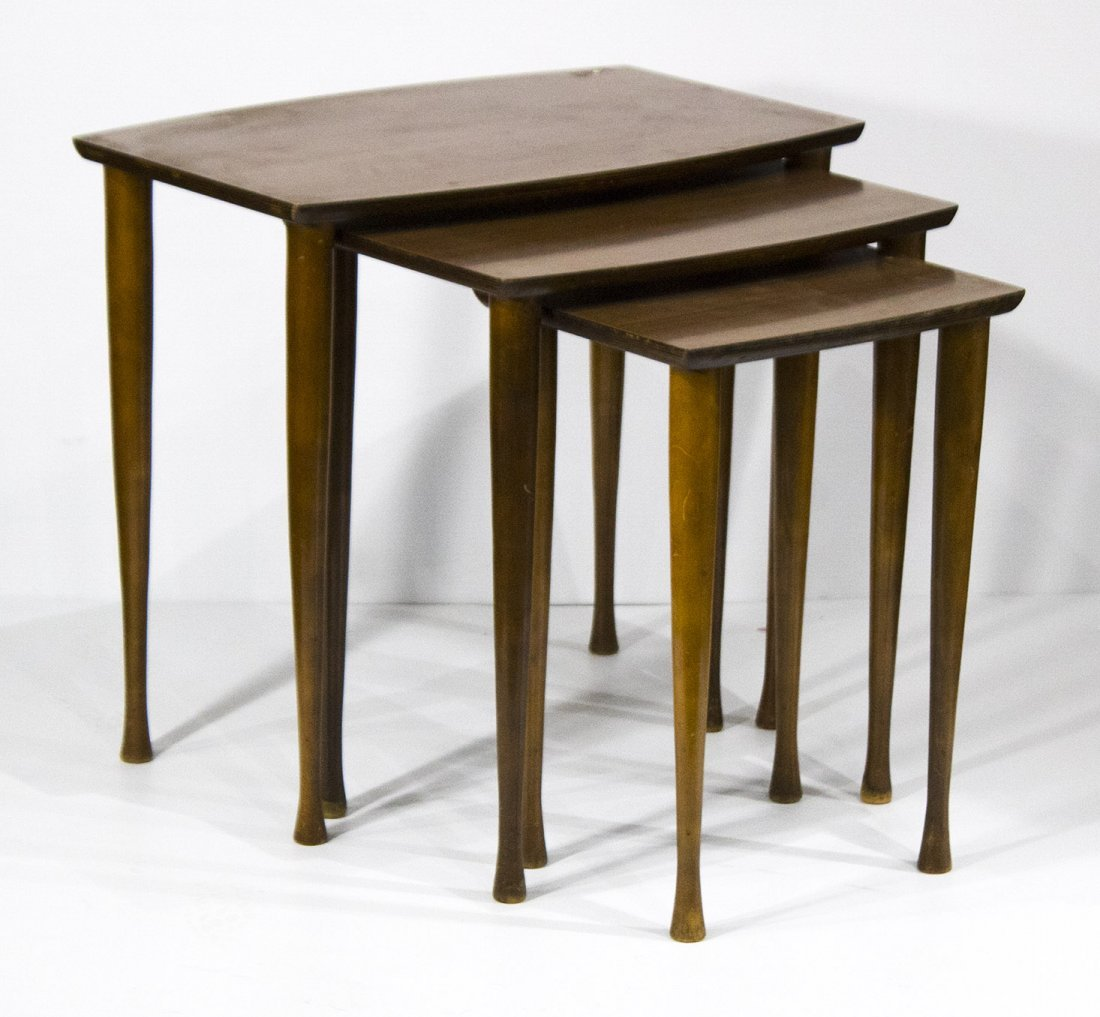 Mid Century Modern NEST OF THREE TABLES Danish Modern