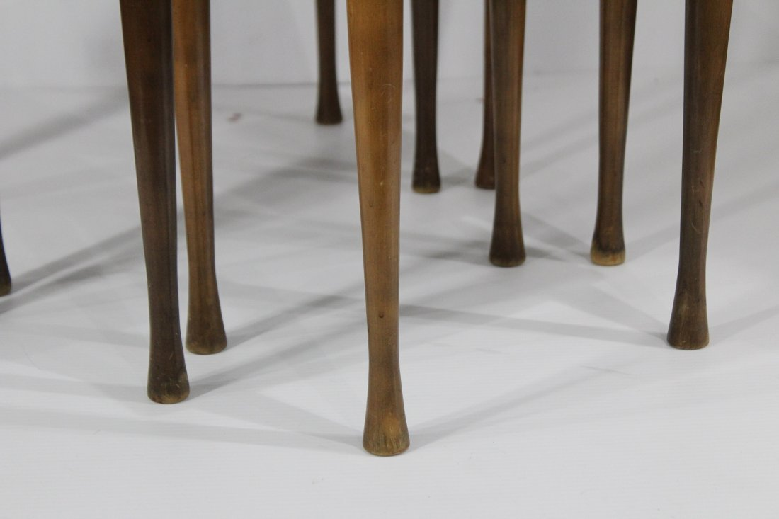 Mid Century Modern NEST OF THREE TABLES Danish Modern - 2