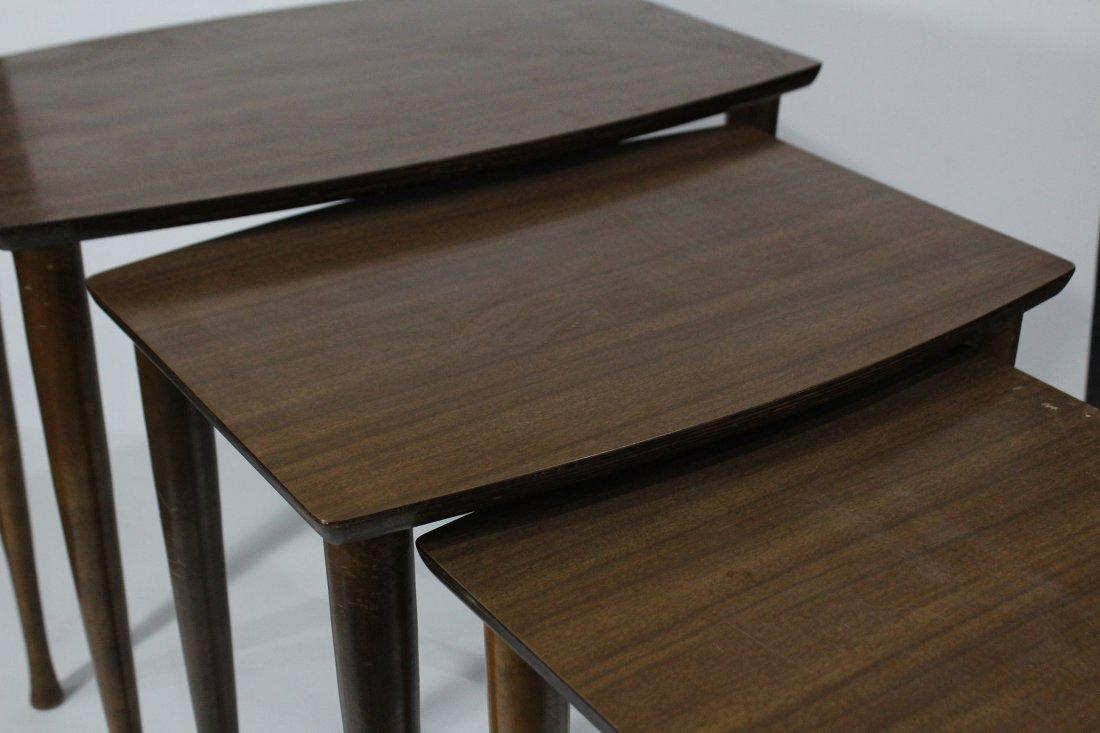 Mid Century Modern NEST OF THREE TABLES Danish Modern - 3