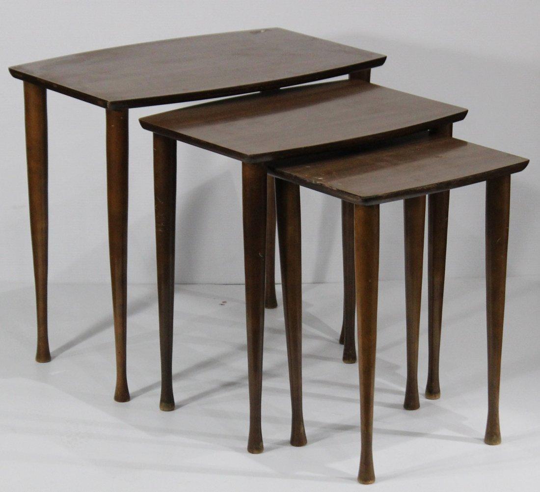 Mid Century Modern NEST OF THREE TABLES Danish Modern - 4