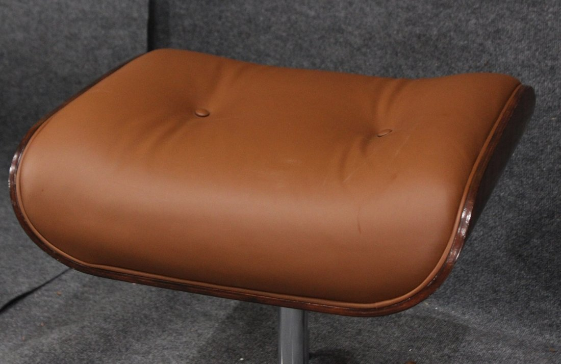 HERMAN MILLER EAMES STYLE ADJUSTABLE CHAIR AND OTTOMAN - 5