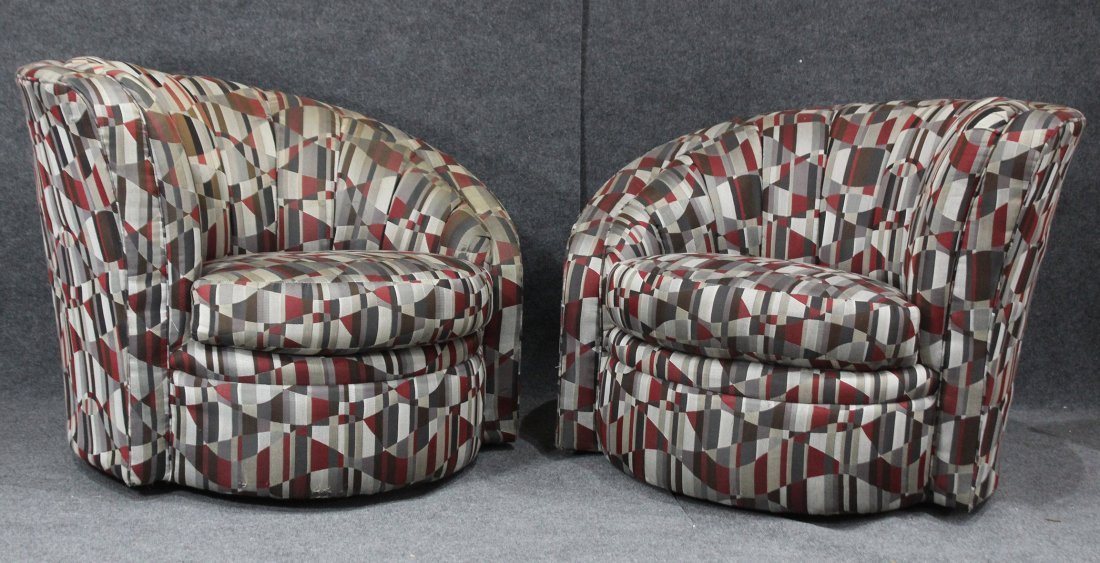 Pair VLADIMIR KAGAN Style NAUTILUS CHAIRS By KARPEN