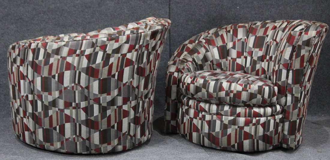 Pair VLADIMIR KAGAN Style NAUTILUS CHAIRS By KARPEN - 4