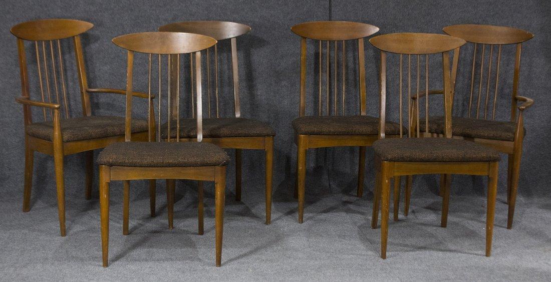 LENOIR Set 6  Mid Century Modern Danish DINING CHAIRS