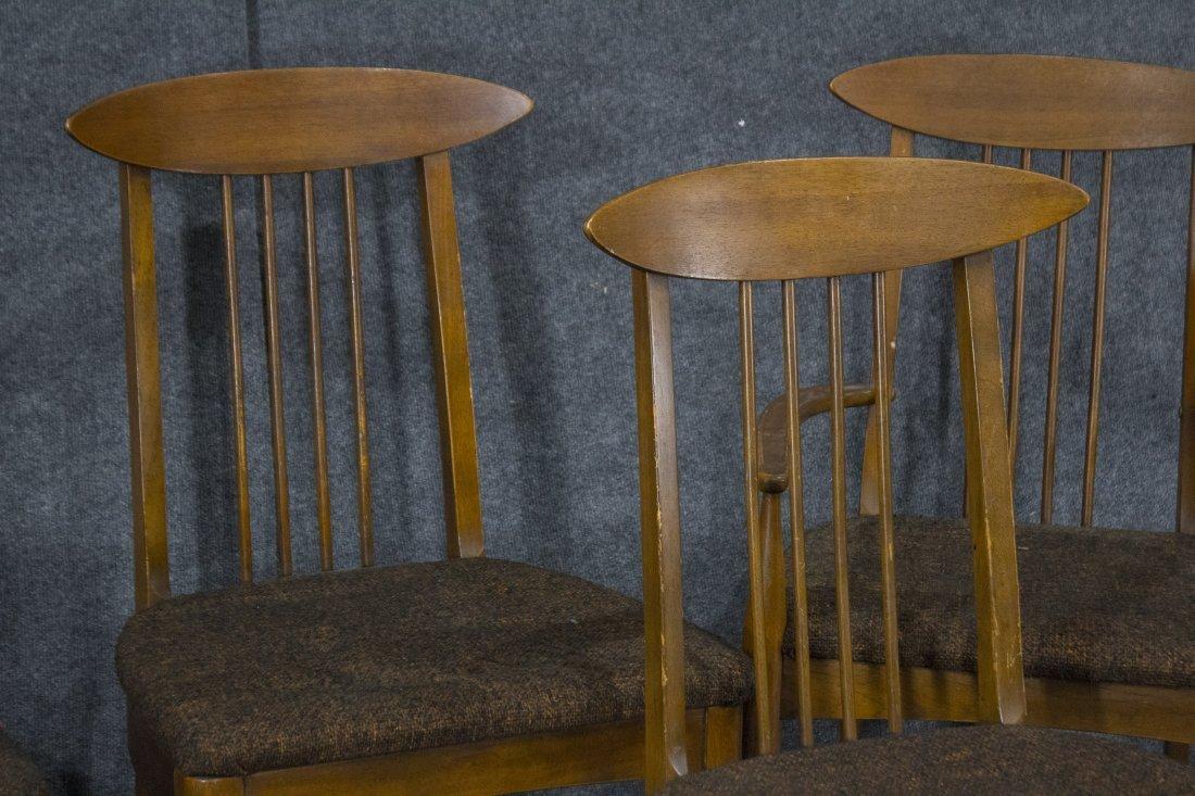 LENOIR Set 6  Mid Century Modern Danish DINING CHAIRS - 2