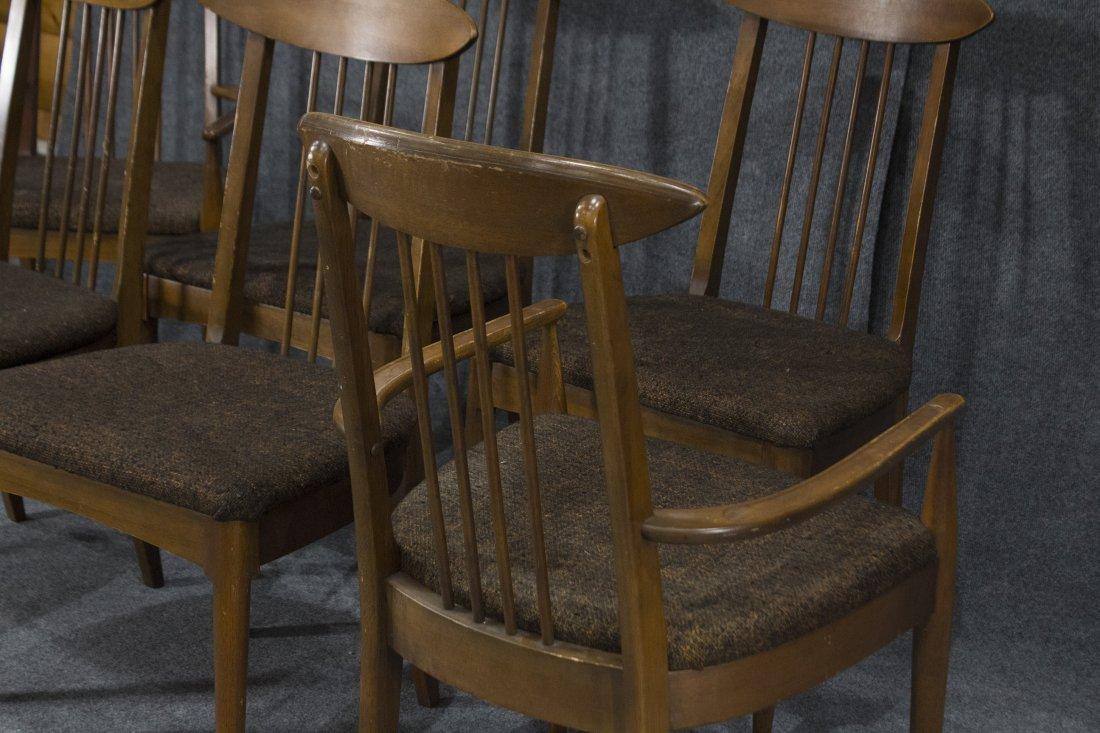 LENOIR Set 6  Mid Century Modern Danish DINING CHAIRS - 3