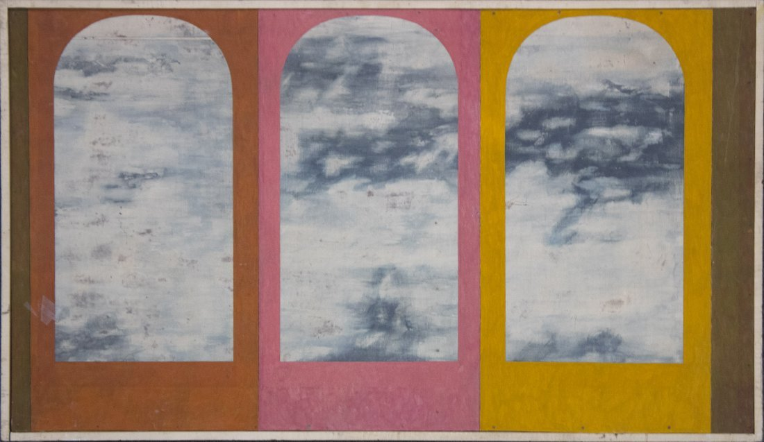 RENE MAGRITTE Attributed SURREALISM CLOUDS IN WINDOWS