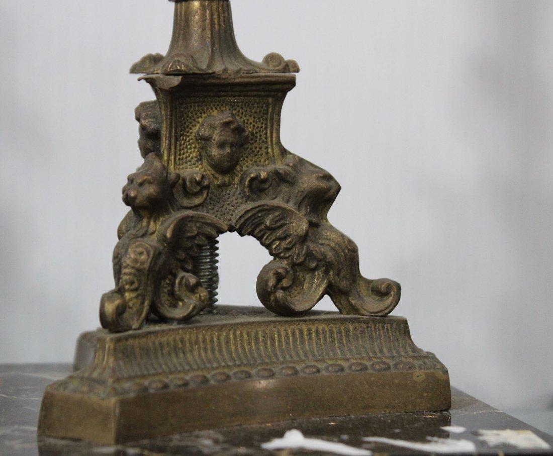 Pr Circa 1870 Victorian Renaissance Bronze Candlesticks - 4
