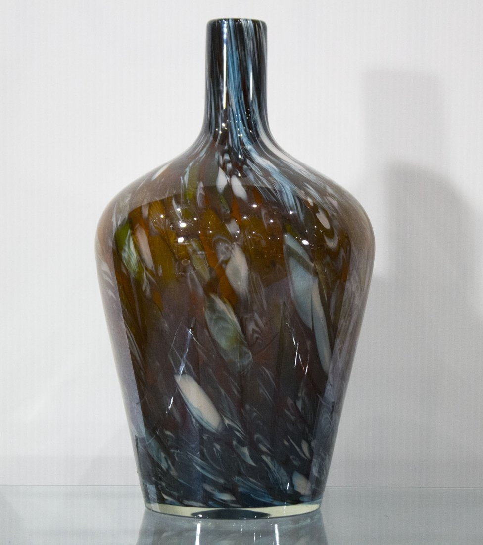 SUPERB QUALITY ITALIAN ART GLASS BOTTLE POLISHED PONTIL