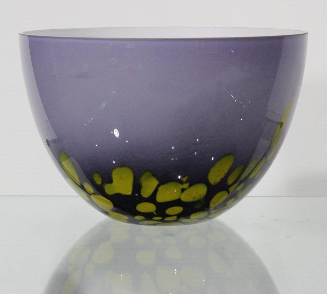 MID-CENTURY MODERN STUDIO CASED ART GLASS BOWL