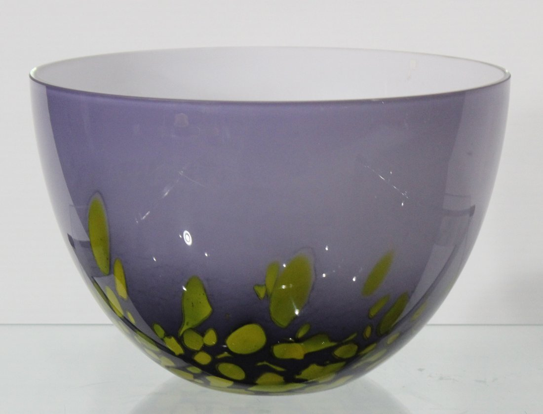 MID-CENTURY MODERN STUDIO CASED ART GLASS BOWL - 2