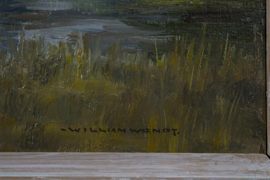 WILLIAM WENDT 1865-1946, OIL/b MOUNTAINS LAKE LANDSCAPE - 2