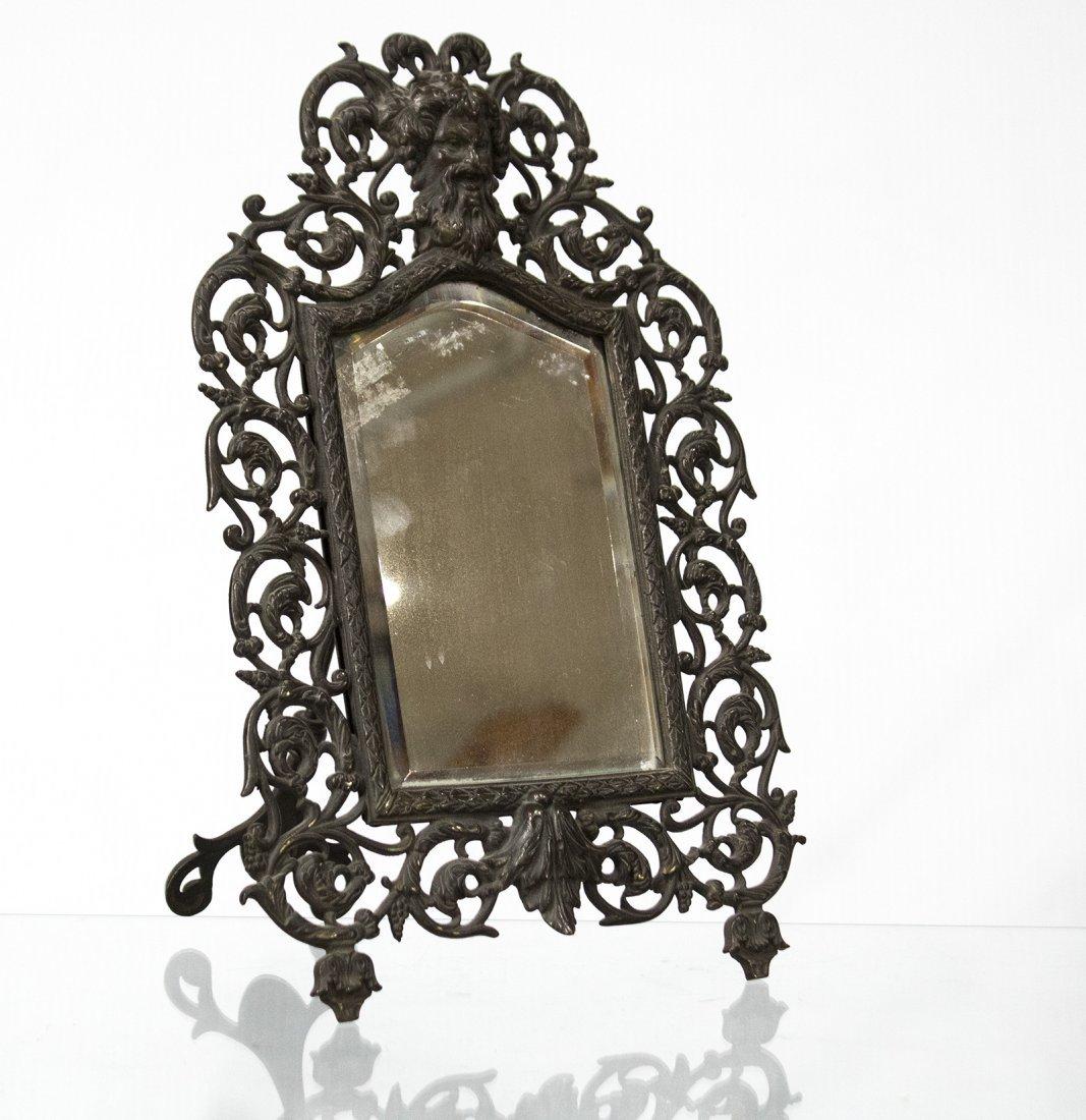 Bronze Victorian Intricate Free Standing Dresser Mirror
