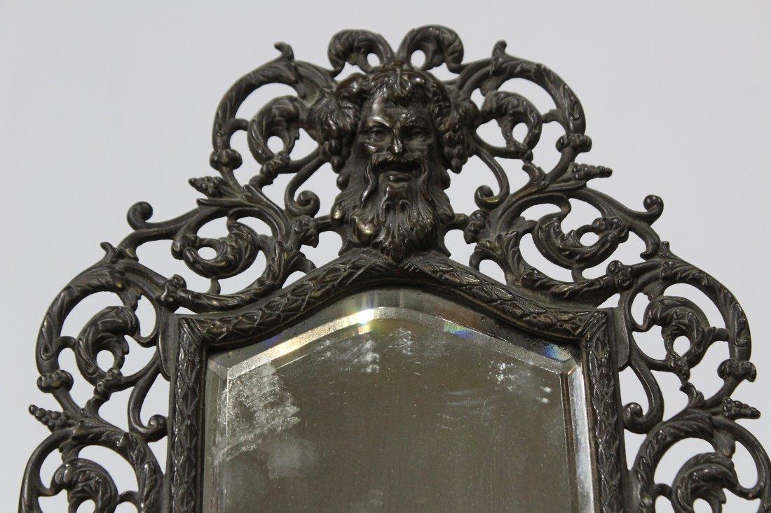 Bronze Victorian Intricate Free Standing Dresser Mirror - 2