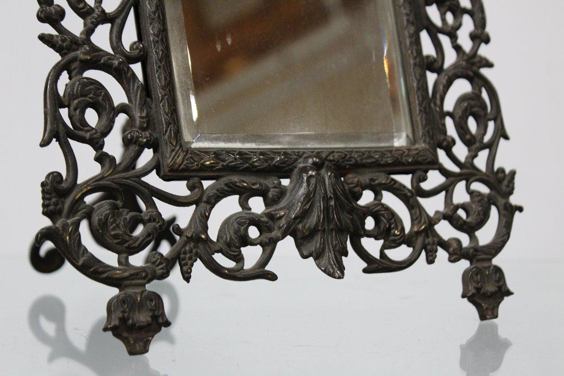 Bronze Victorian Intricate Free Standing Dresser Mirror - 3