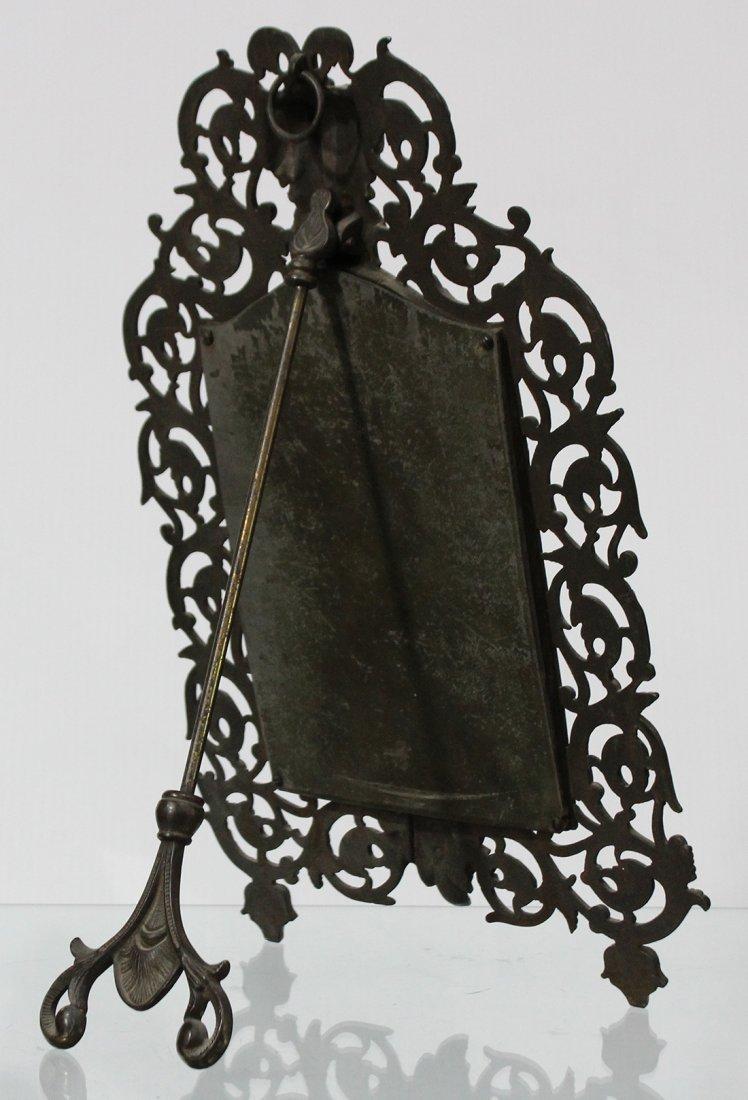 Bronze Victorian Intricate Free Standing Dresser Mirror - 4