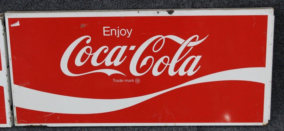 FOUR [4] Vintage ENJOY COCA COLA Tin Signs - 3