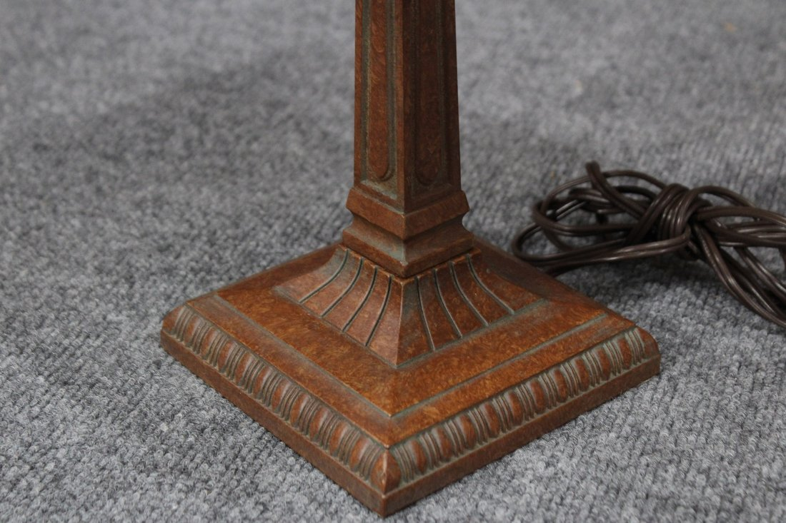 ARTS AND CRAFTS Style SLAG GLASS TABLE LAMP - 3