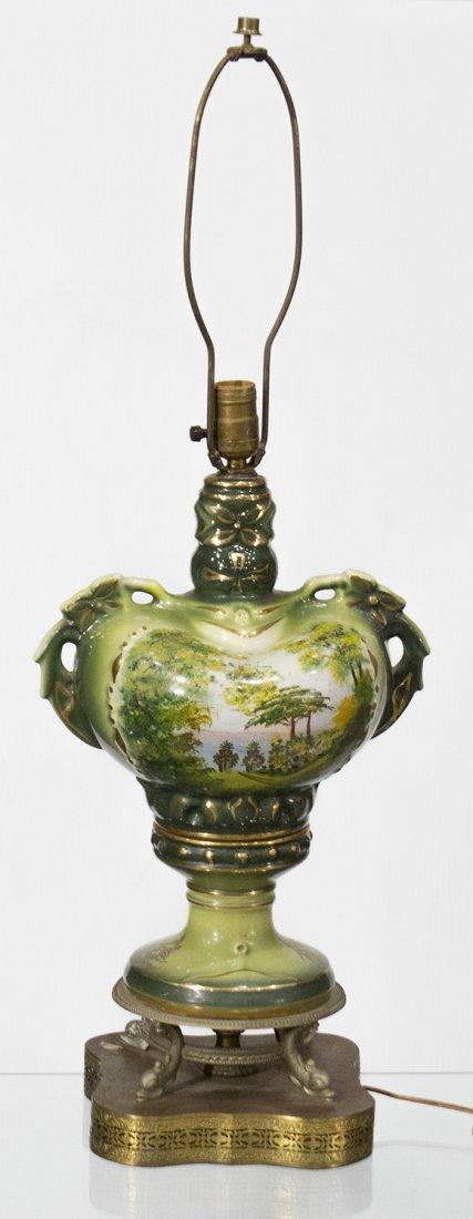Circa 1920 CAPODIMONTE PORCELAIN TABLE LAMP