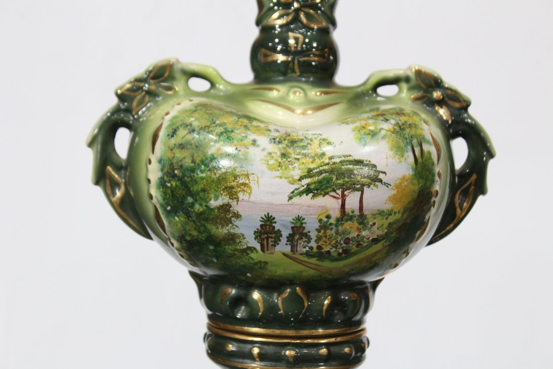 Circa 1920 CAPODIMONTE PORCELAIN TABLE LAMP - 2