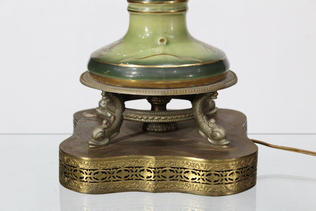 Circa 1920 CAPODIMONTE PORCELAIN TABLE LAMP - 3
