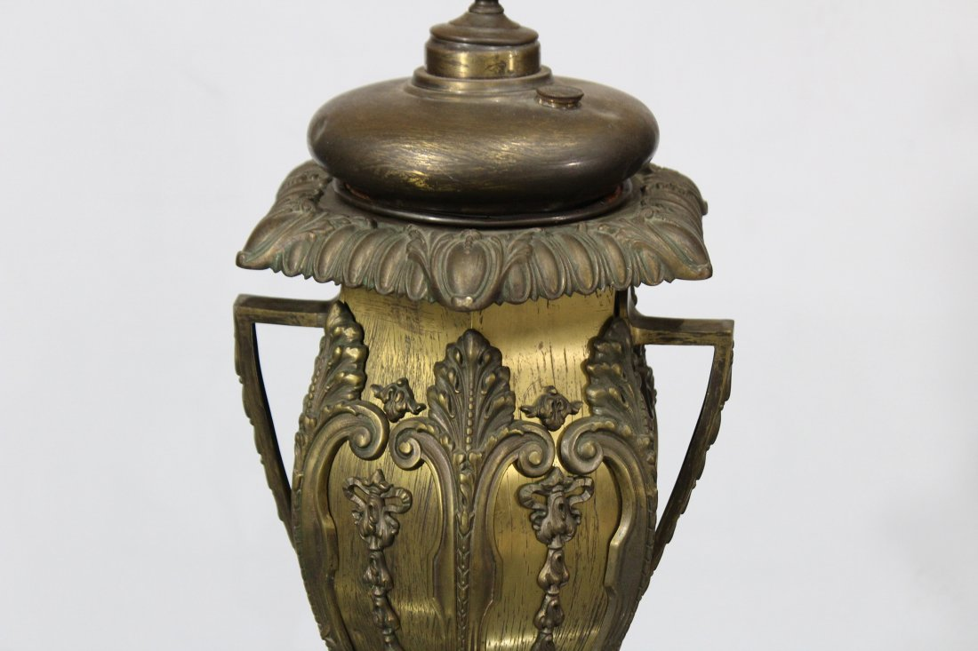 BRADLEY AND HUBBARD Brass Ornate BANQUET LAMP BASE - 3