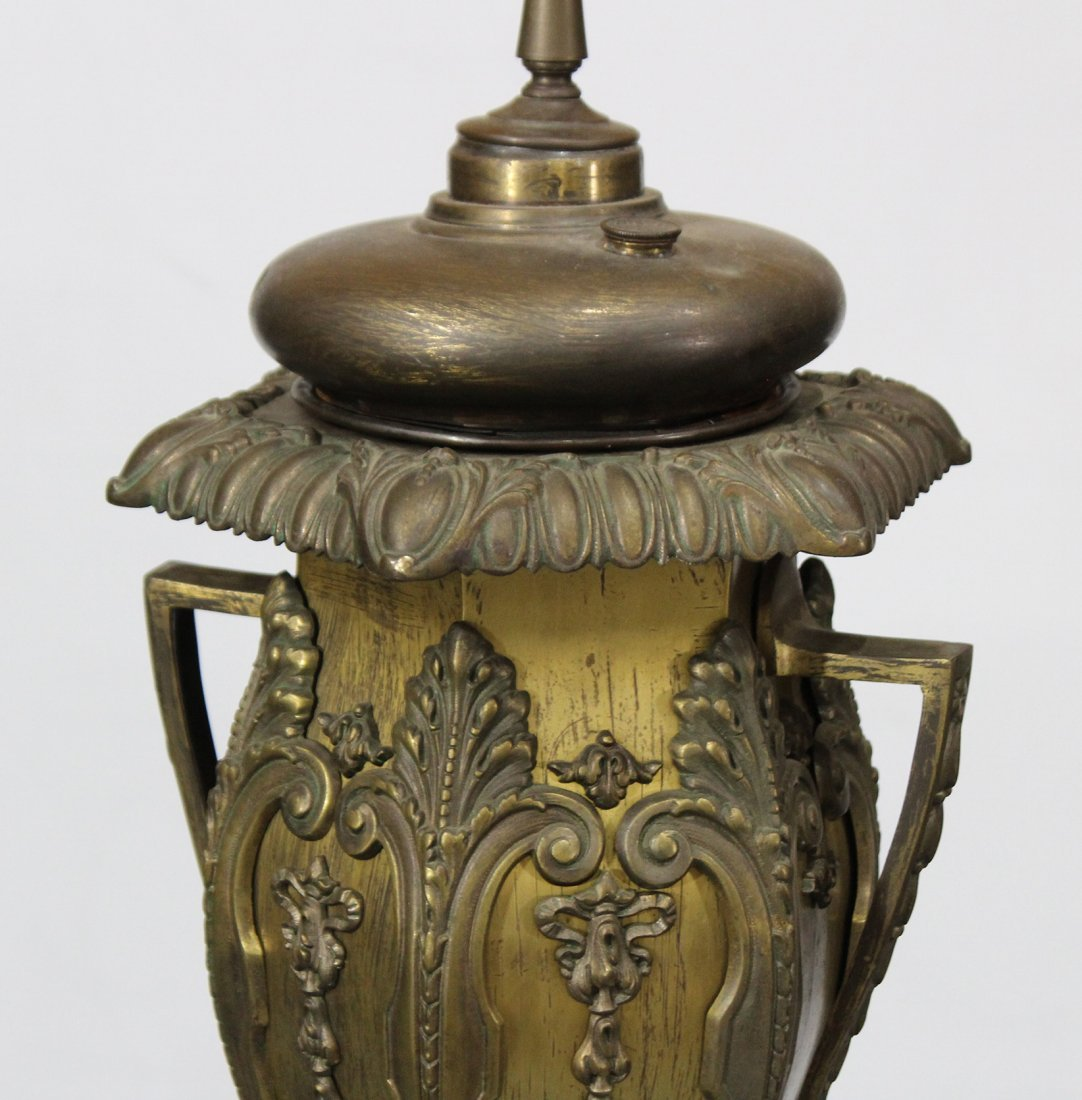 BRADLEY AND HUBBARD Brass Ornate BANQUET LAMP BASE - 6