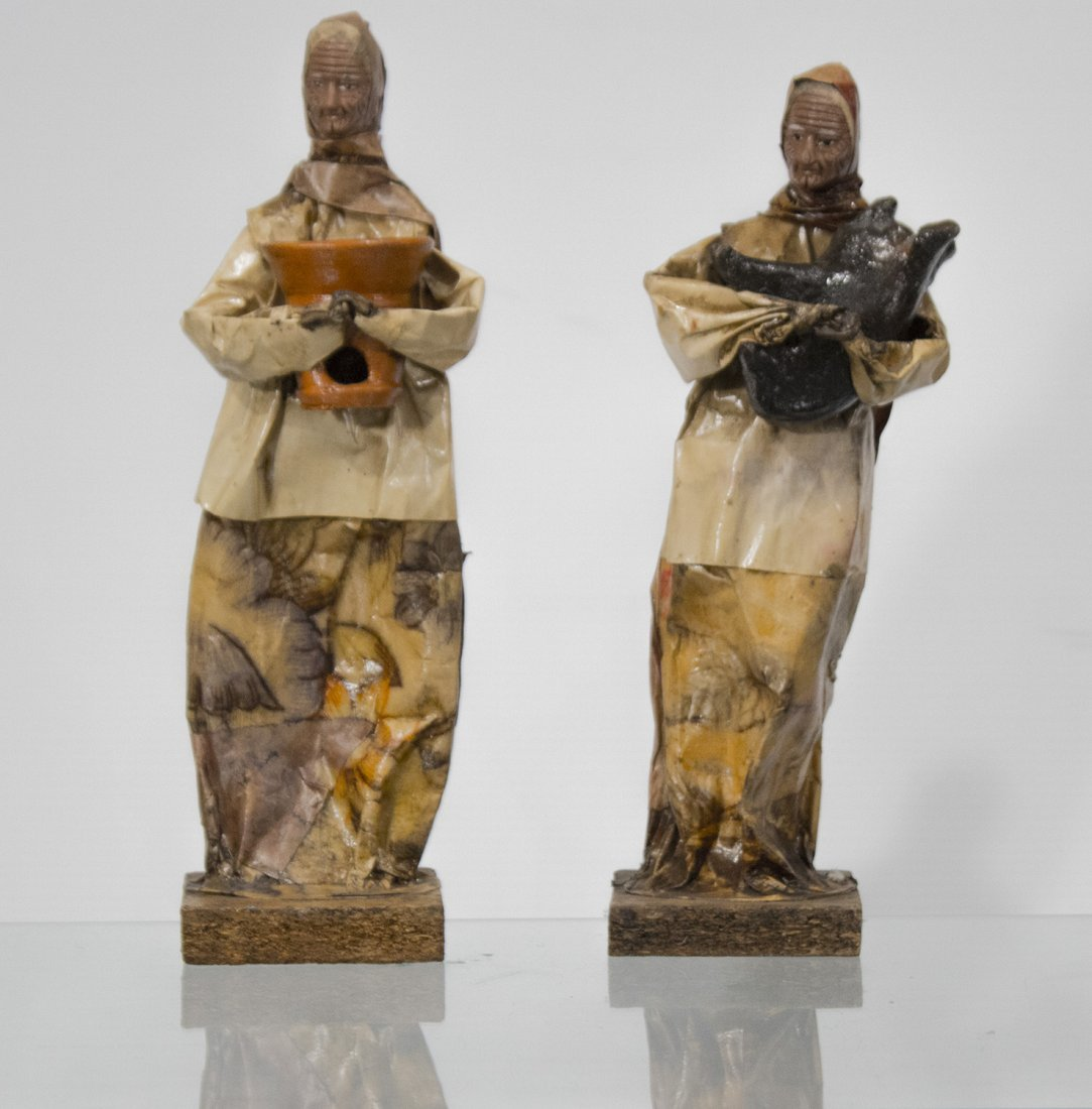 TWO [2] FINE PAPERMACHE FIGURES