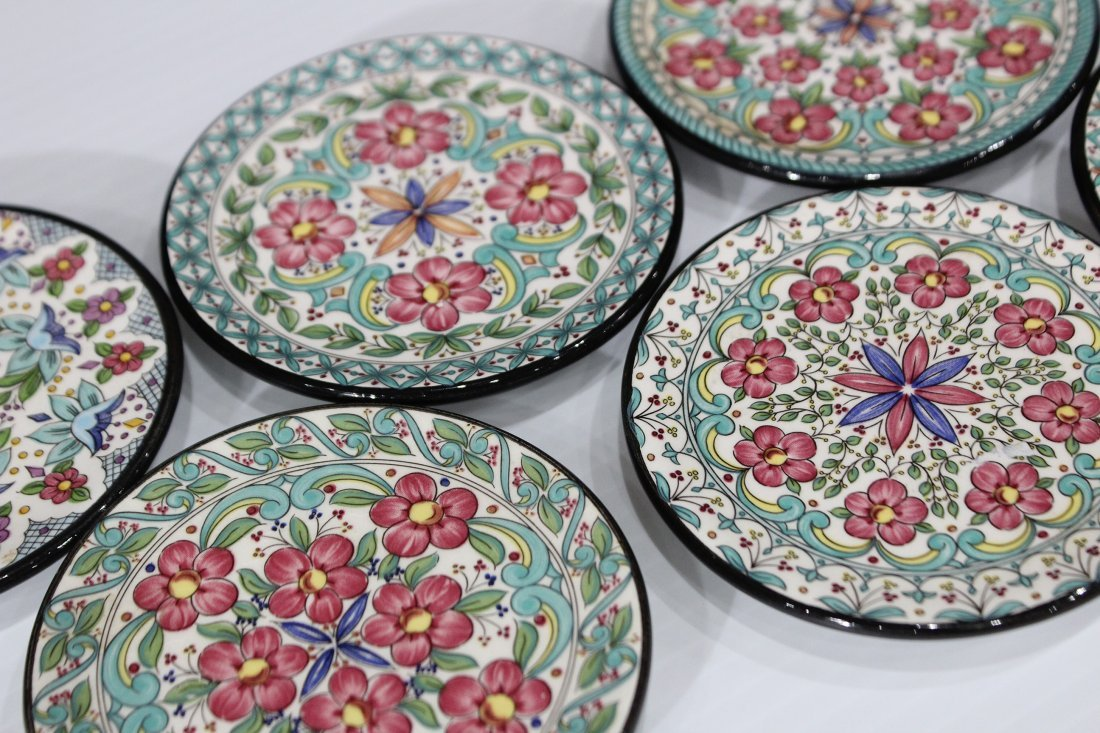 CEREPLAT Made In Spain Set Six [6] DECORATED PLATES
