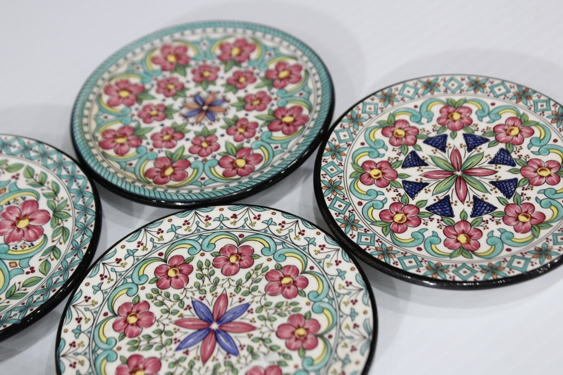 CEREPLAT Made In Spain Set Six [6] DECORATED PLATES - 2