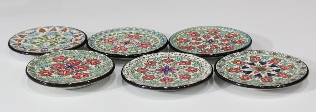 CEREPLAT Made In Spain Set Six [6] DECORATED PLATES - 3