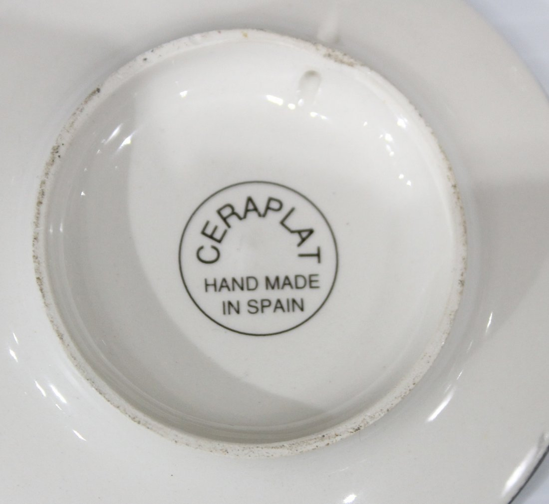 CEREPLAT Made In Spain Set Six [6] DECORATED PLATES - 4