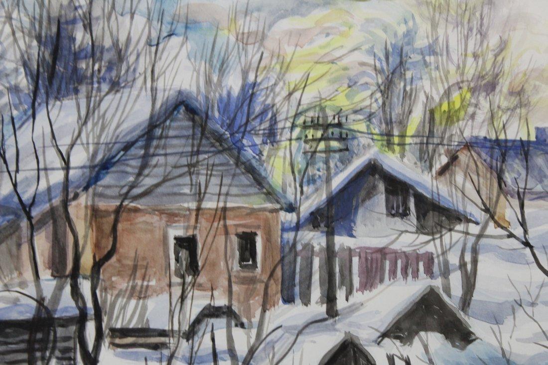 CHARLES BURCHFIELD  (1893 - 1967) RURAL TOWN FRESH SNOW - 2