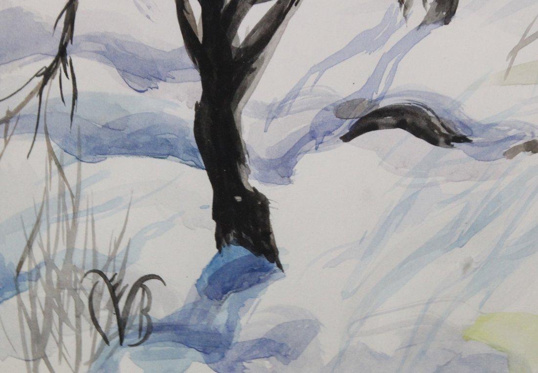 CHARLES BURCHFIELD  (1893 - 1967) RURAL TOWN FRESH SNOW - 3